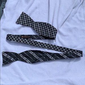 Ben Sherman adjustable bow tie handmade 100% silk